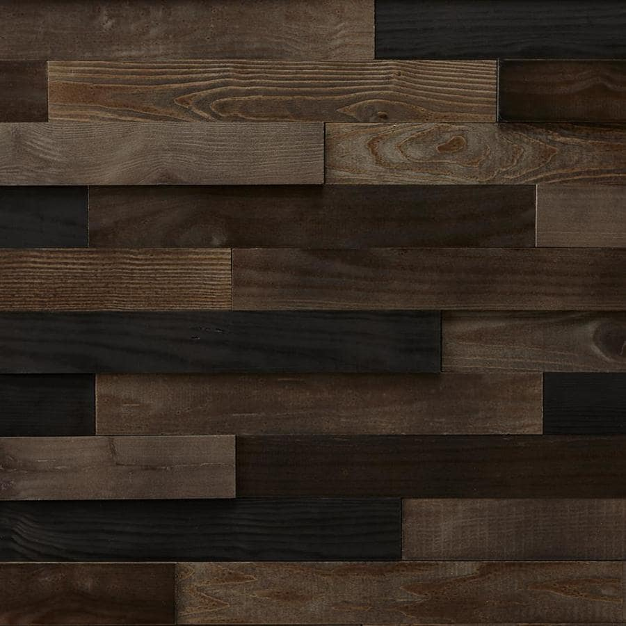 Shop Timberwall Landscape 9 8 Sq Ft Black Rock Desert Wood Wall Plank Kit At