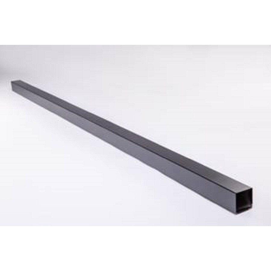 (Common: 3-in x 3-in x Actual: 3-in x 3-in ) Slipfence Black Aluminum Post