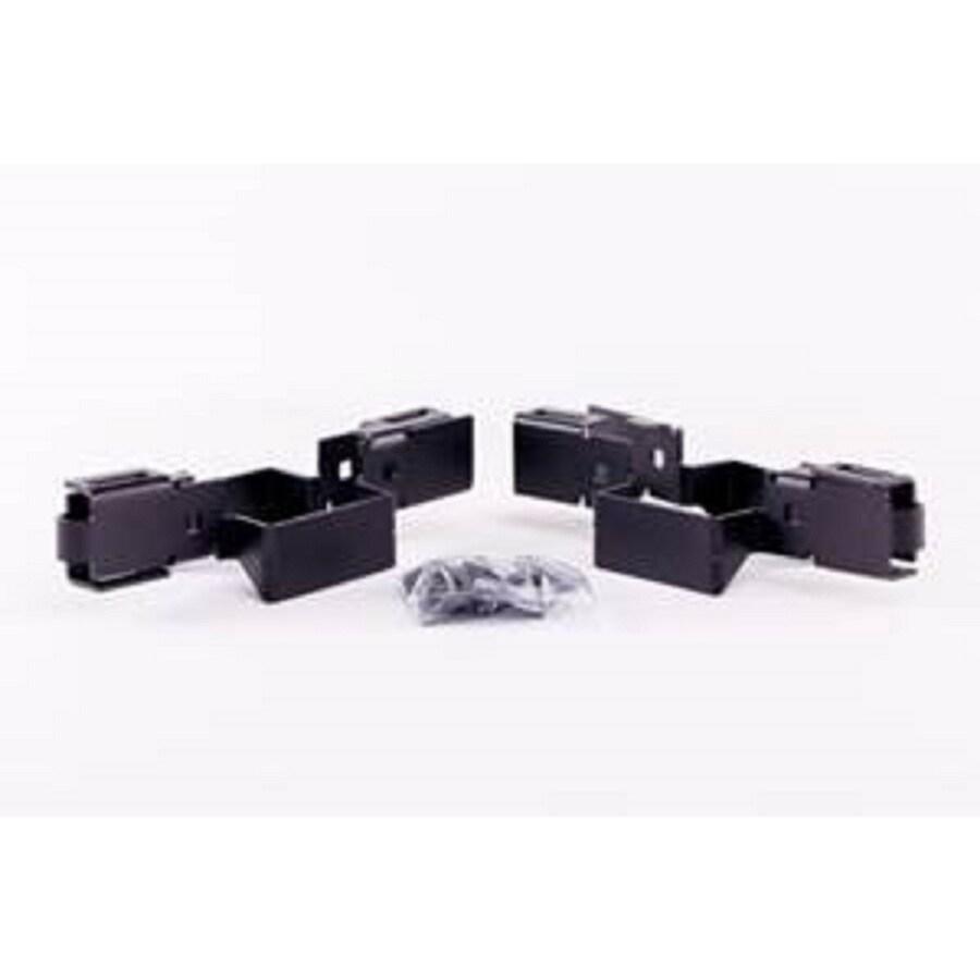 Slipfence 2-Pack 3.5-in x 8-in x 7.5-in Black Fastener Kit