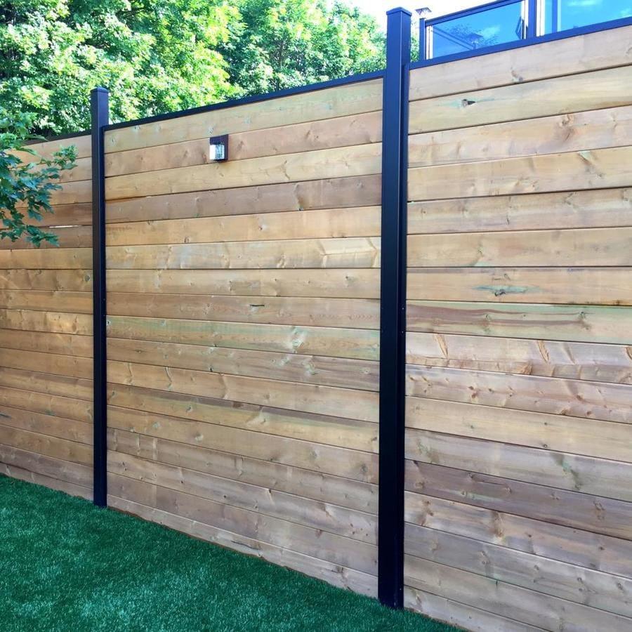 Horizontal Cedar Fence 2x 1x6 1x3 Boards Varying Modern Fence Backyard Fences Wood Fence