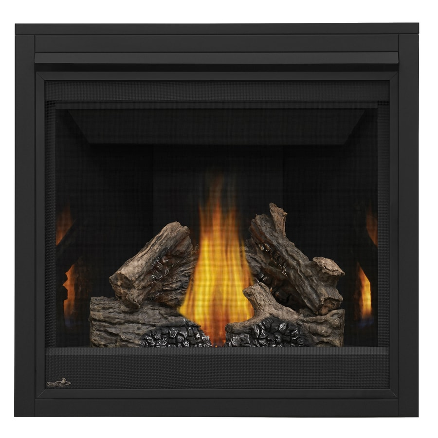 Shop continental 35-in direct vent black natural gas fireplace at Lowes.com