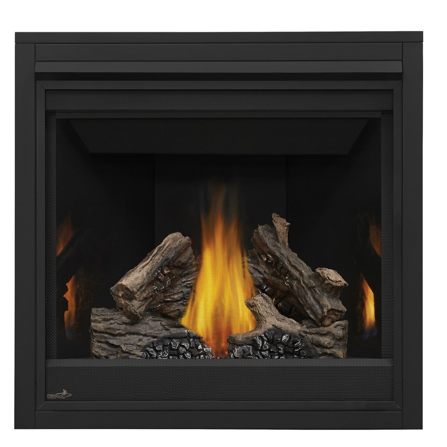 Shop Continental 35 In Direct Vent Black Liquid Propane Gas Fireplace At