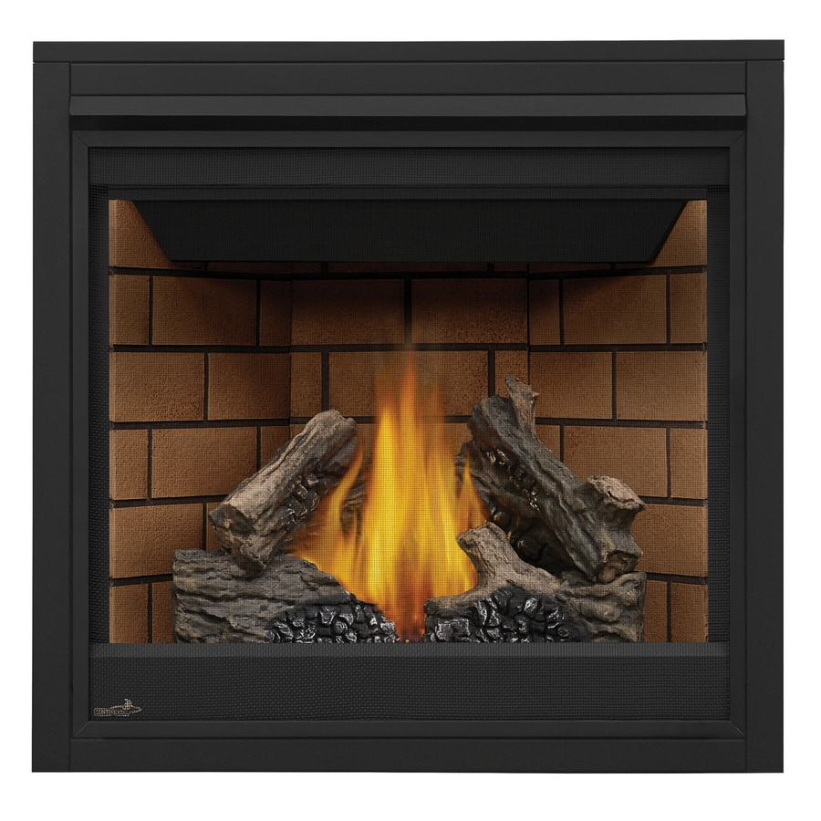 Continental 35-in Direct Vent Black Liquid Propane Gas Fireplace