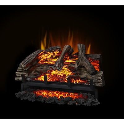 Napoleon 27 In W 5000 Btu Black Electric Fireplace Logs With