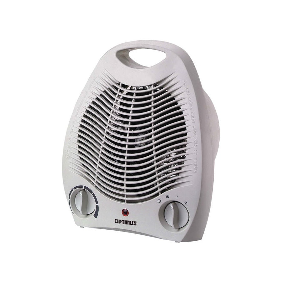Optimus 5,100-BTU Fan Forced Compact Electric Space Heater with Thermostat and Energy Saving Setting