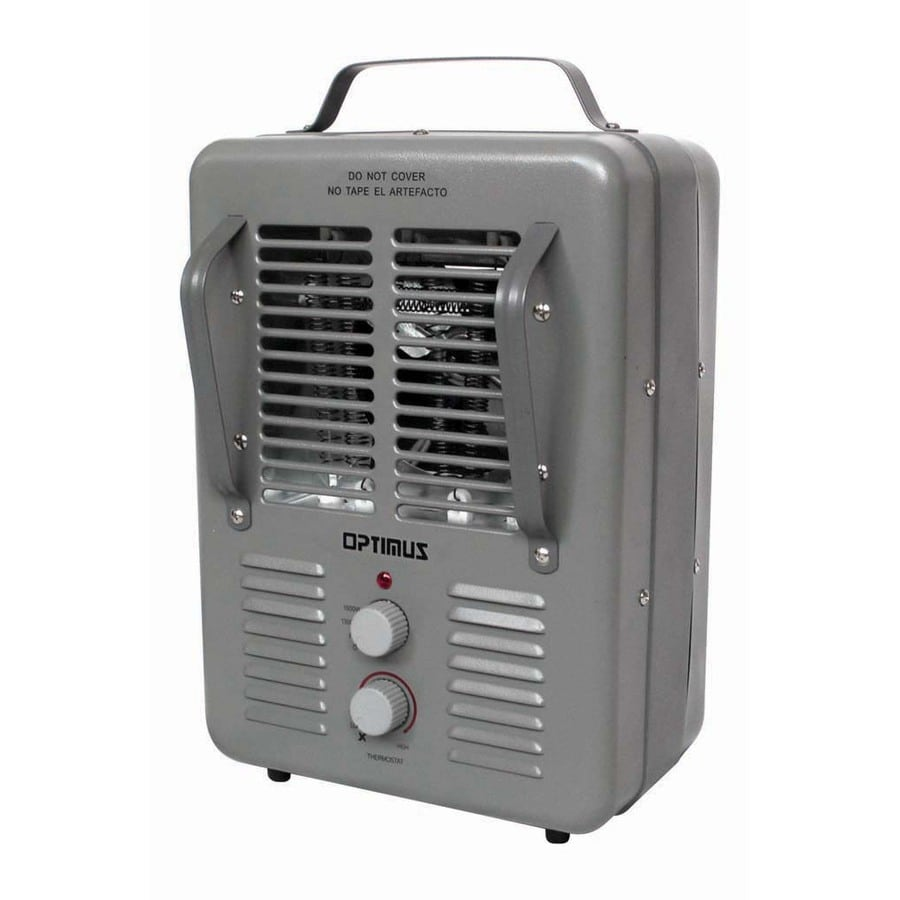 Space heater bathroom - Utilitech 5 118 Btu Utility Fan Cabinet Electric Space Heater With Thermostat