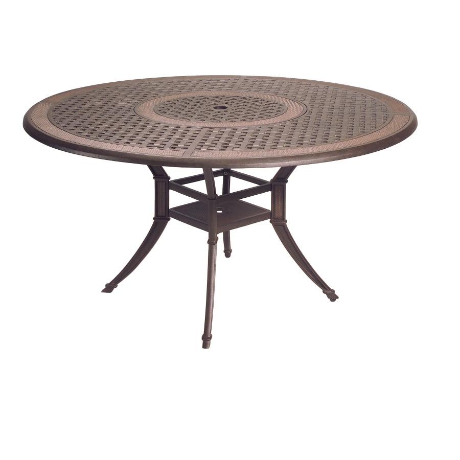 Shop Garden Treasures Herrington Cast Aluminum Round Patio - 54 round patio table