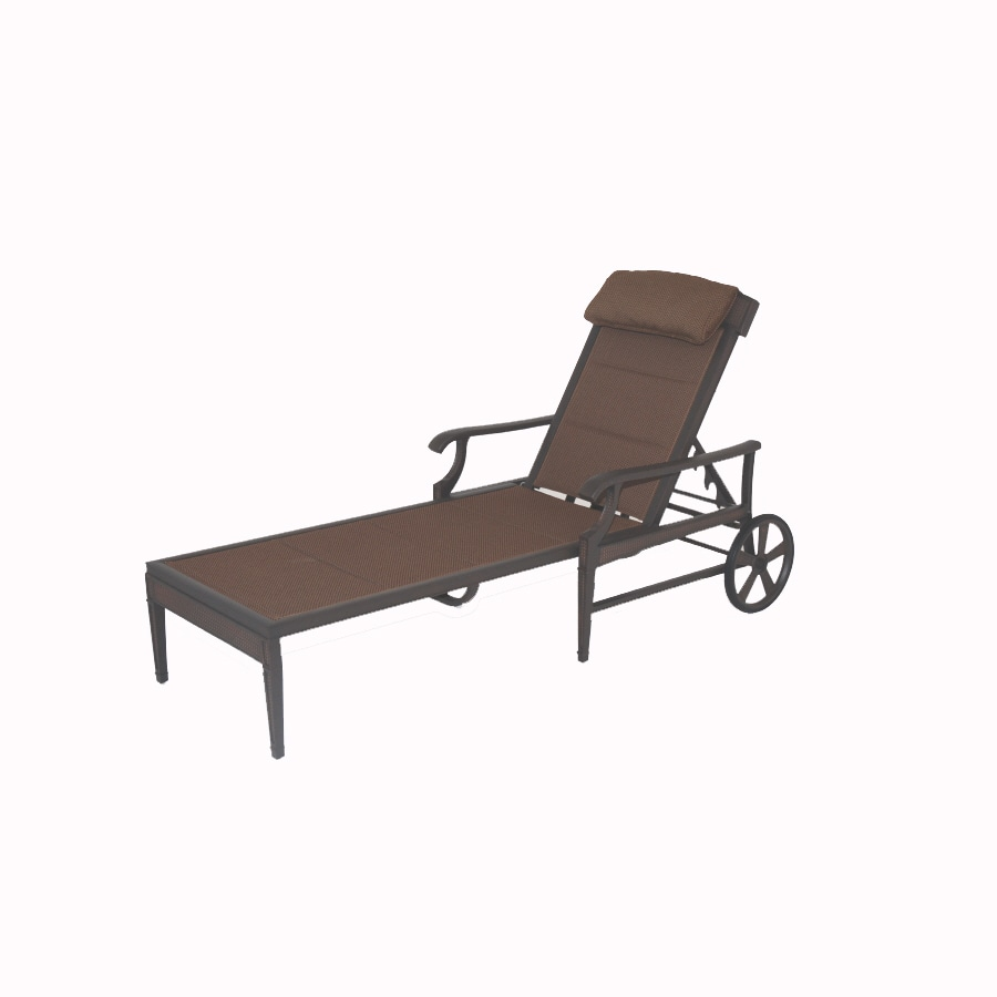Shop garden treasures herrington chaise lounge patio chair for Daybed bench chaise