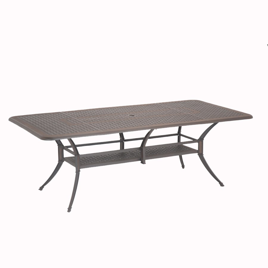Lovely Garden Treasures Herrington 84 In X 42 In Aluminum Rectangle Patio Dining  Table