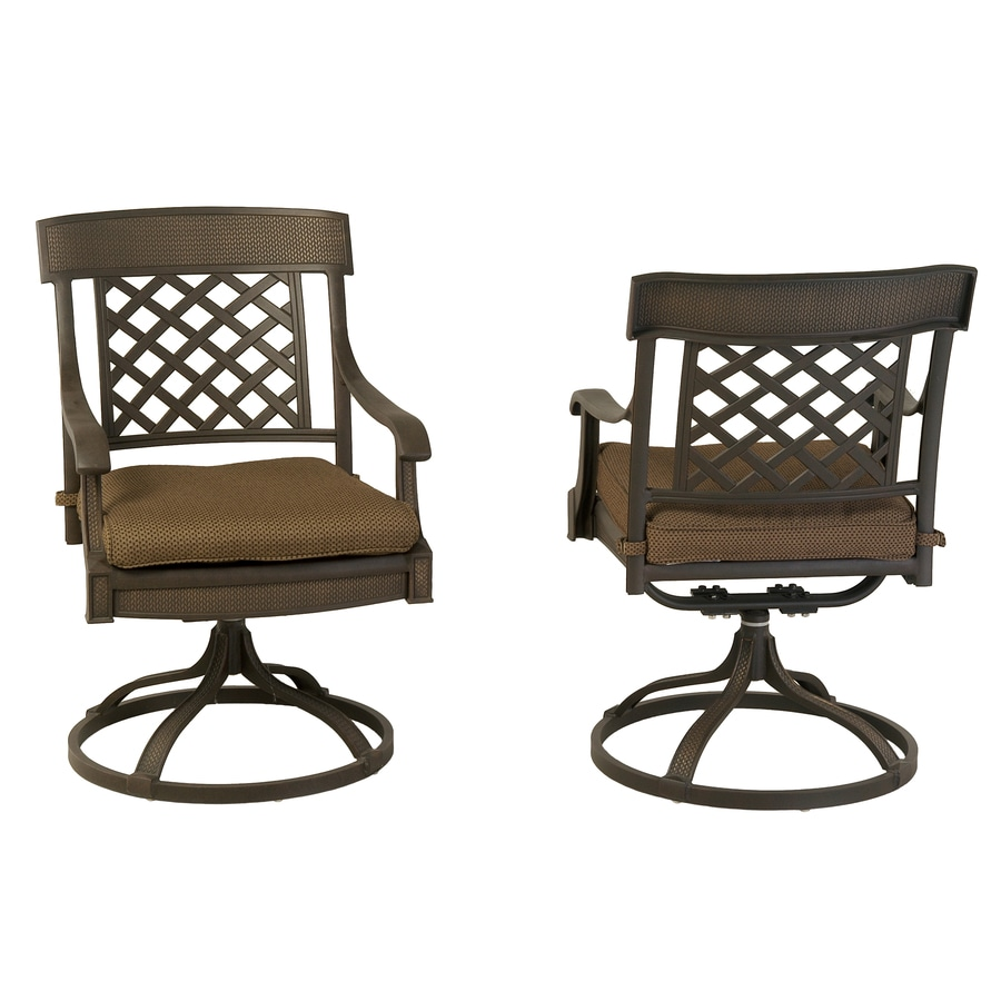 Great Garden Treasures Set Of 2 Herrington Aluminum Swivel Rocker Patio Dining  Chairs