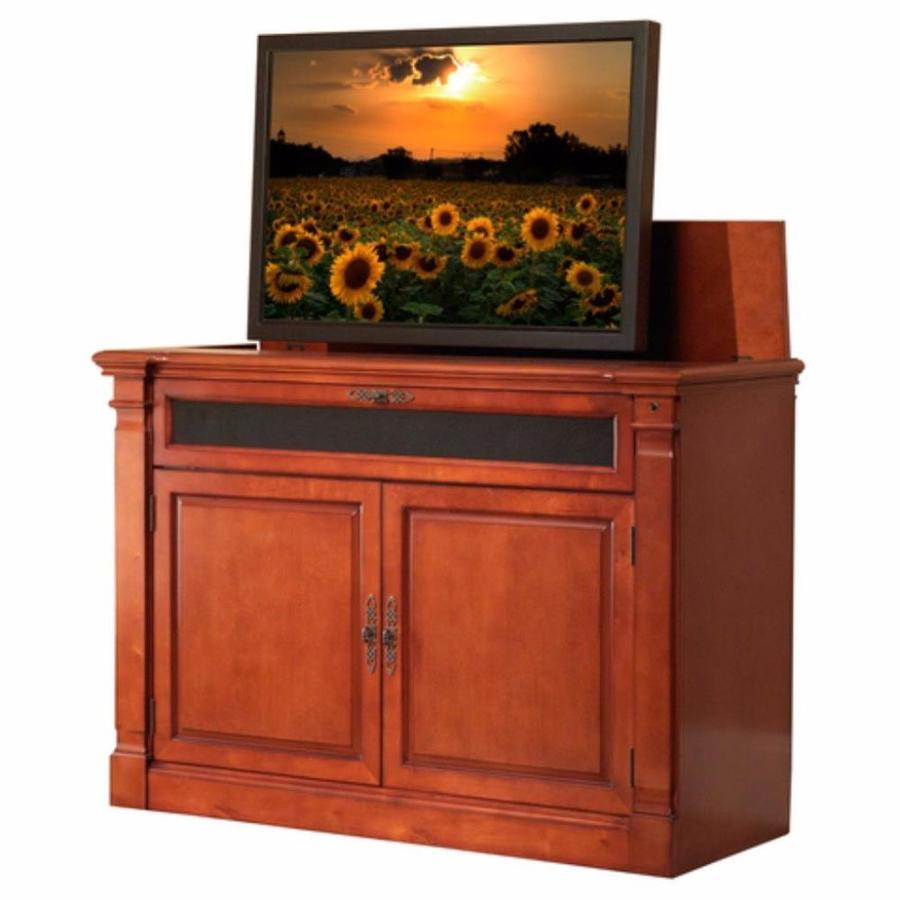 Etonnant Touchstone Adonzo Distressed Cherry TV Cabinet With Integrated TV Mount