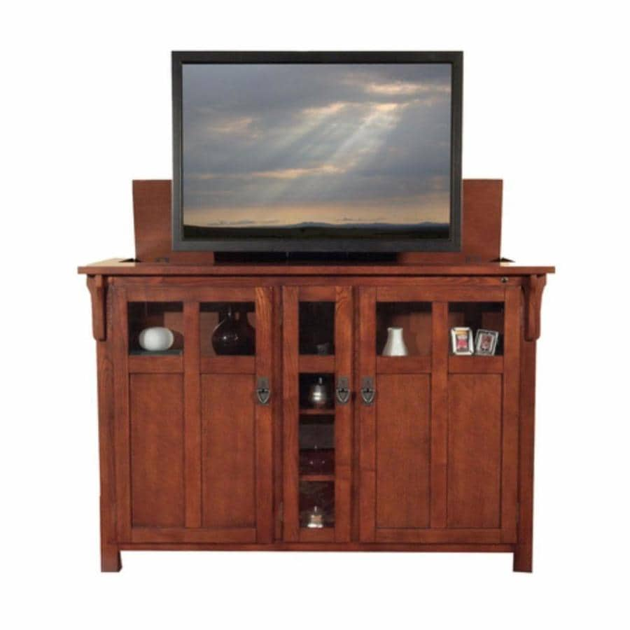 Superbe Touchstone Bungalow Mission Chestnut TV Cabinet With Integrated TV Mount