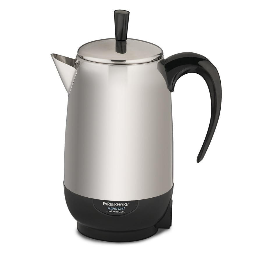 Shop Farberware Black/Silver 8-Cup Percolator at Lowes.com
