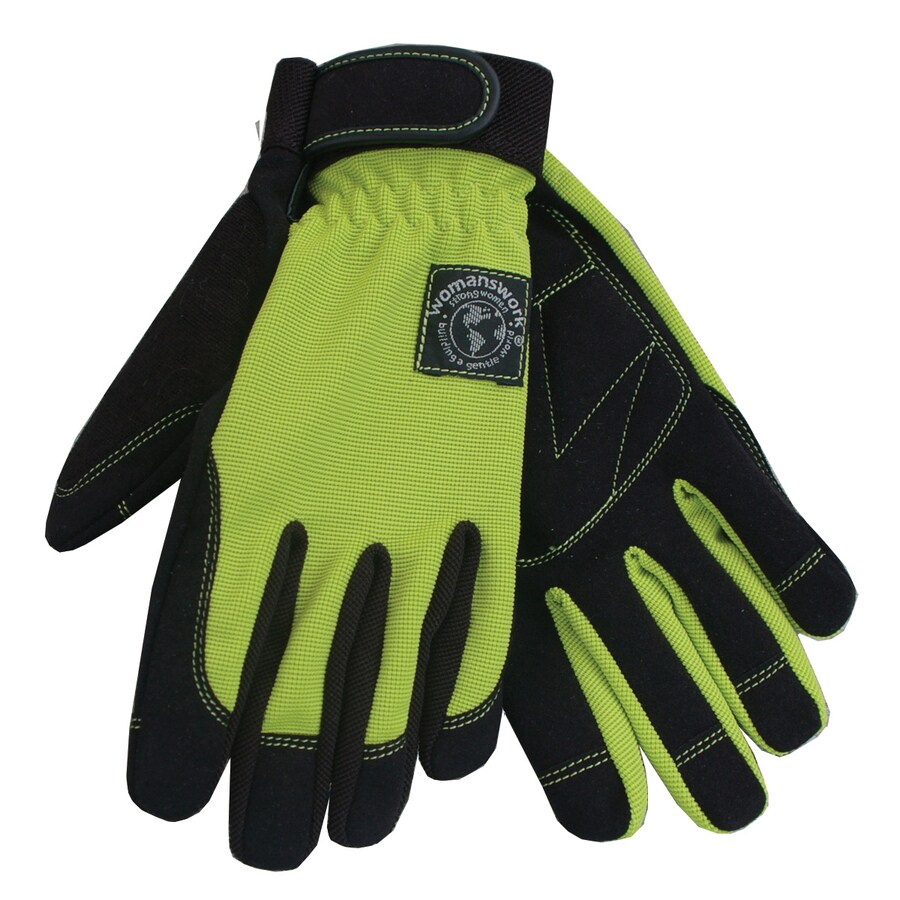 Womanswork Small Green Ladies Leather Garden Gloves