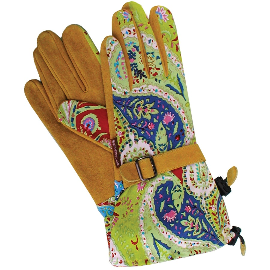 Womanswork Large Ladies Leather Garden Gloves