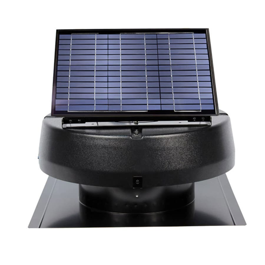 Shop U S Sunlight 1 600 Cfm Black Galvanized Steel Solar Power Roof Vent At
