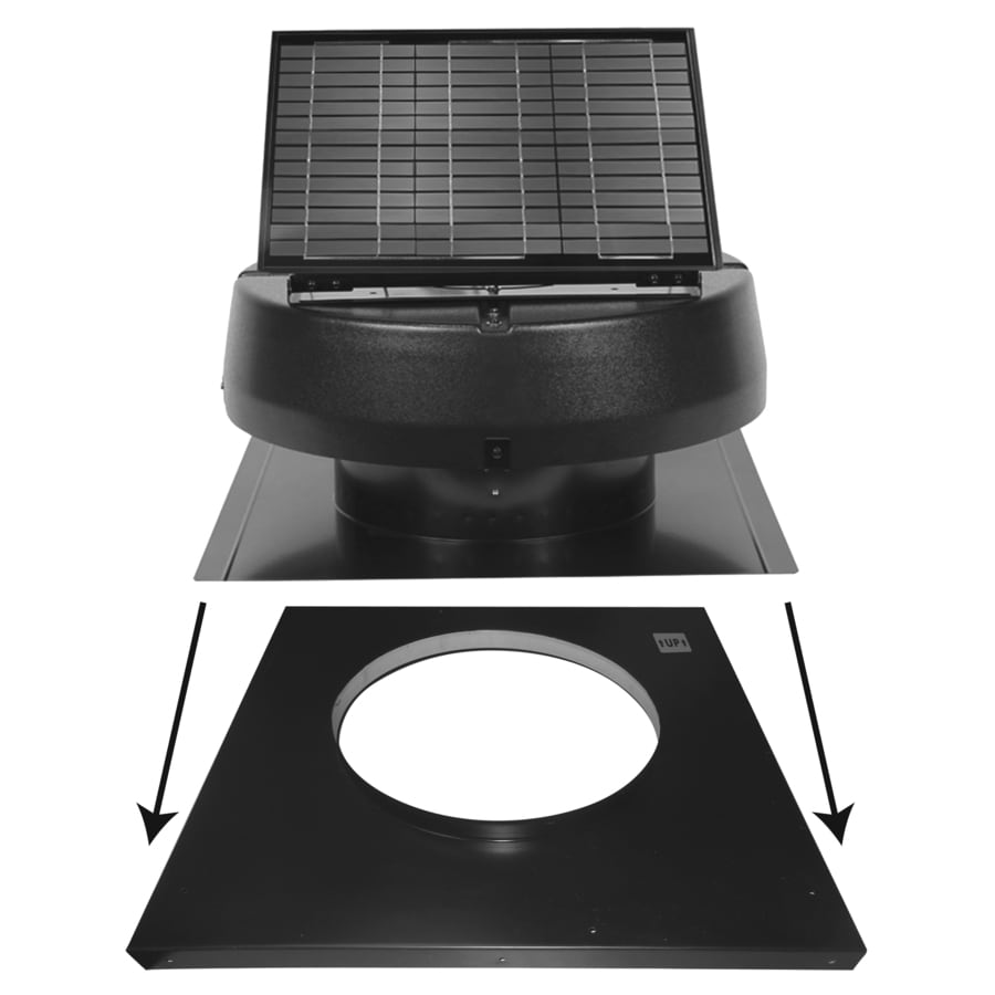 U.S. Sunlight Galvanized Steel Curb Mount Solar Fan Flashing Kit