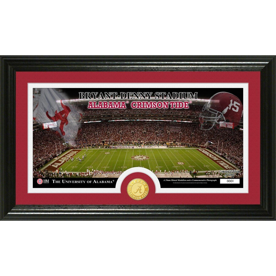 The Highland Mint 20-in W x 12-in H University of Alabama Stadium Bronze Coin Panoramic Photo Mint Wall Art