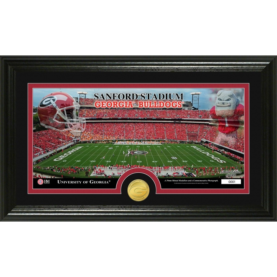The Highland Mint 20-in W x 12-in H University Of Georgia Stadium Bronze Coin Panoramic Photo Mint Limited Editions