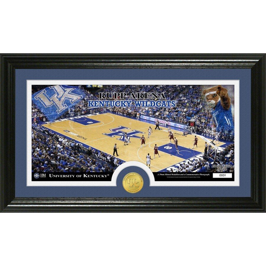 The Highland Mint 20-in W x 12-in H University of Kentucky Court Bronze Coin Panoramic Photo Mint Wall Art
