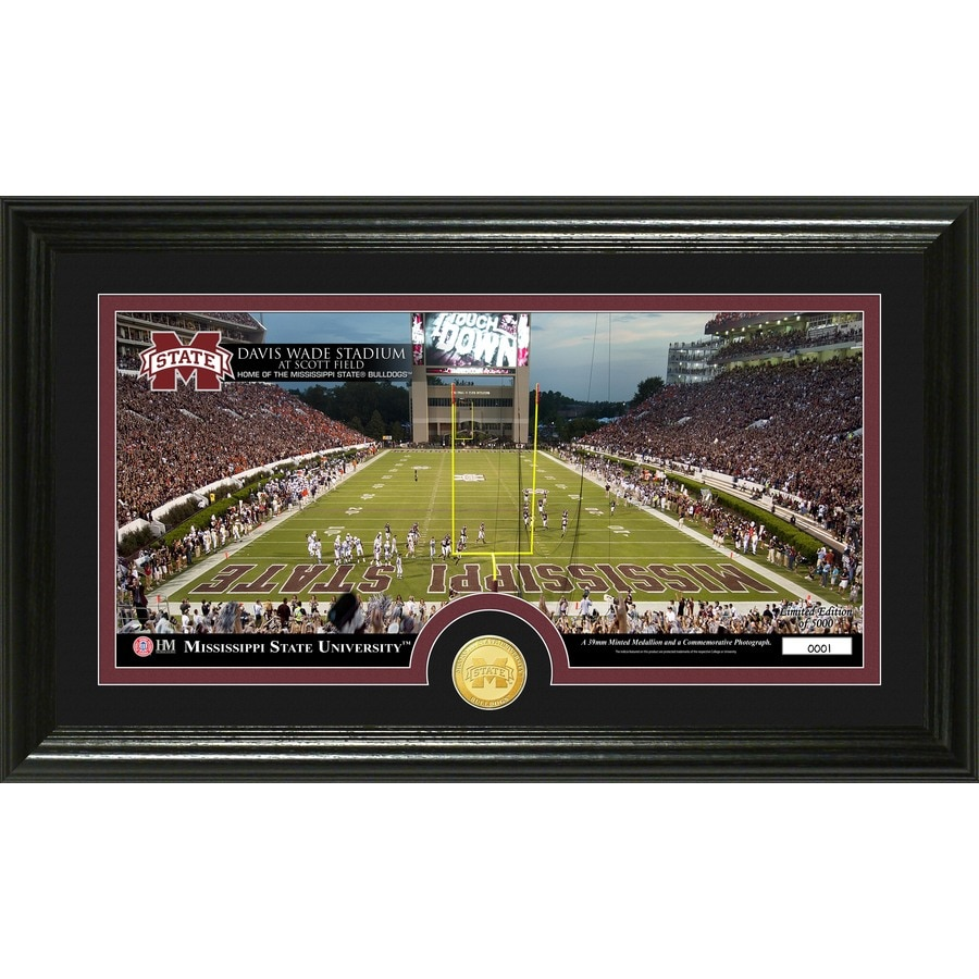 The Highland Mint 20-in W x 12-in H Mississippi State University Stadium Bronze Coin Panoramic Photo Mint Wall Art