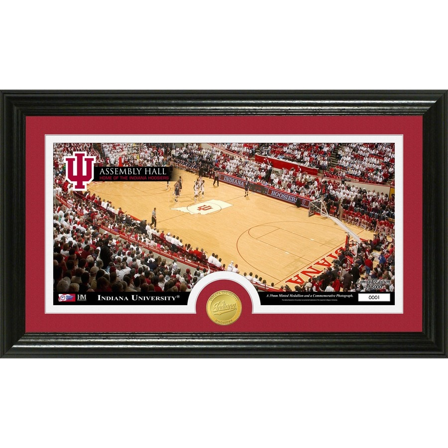 The Highland Mint 20-in W x 12-in H Indiana University Court Bronze Coin Panoramic Photo Mint Wall Art