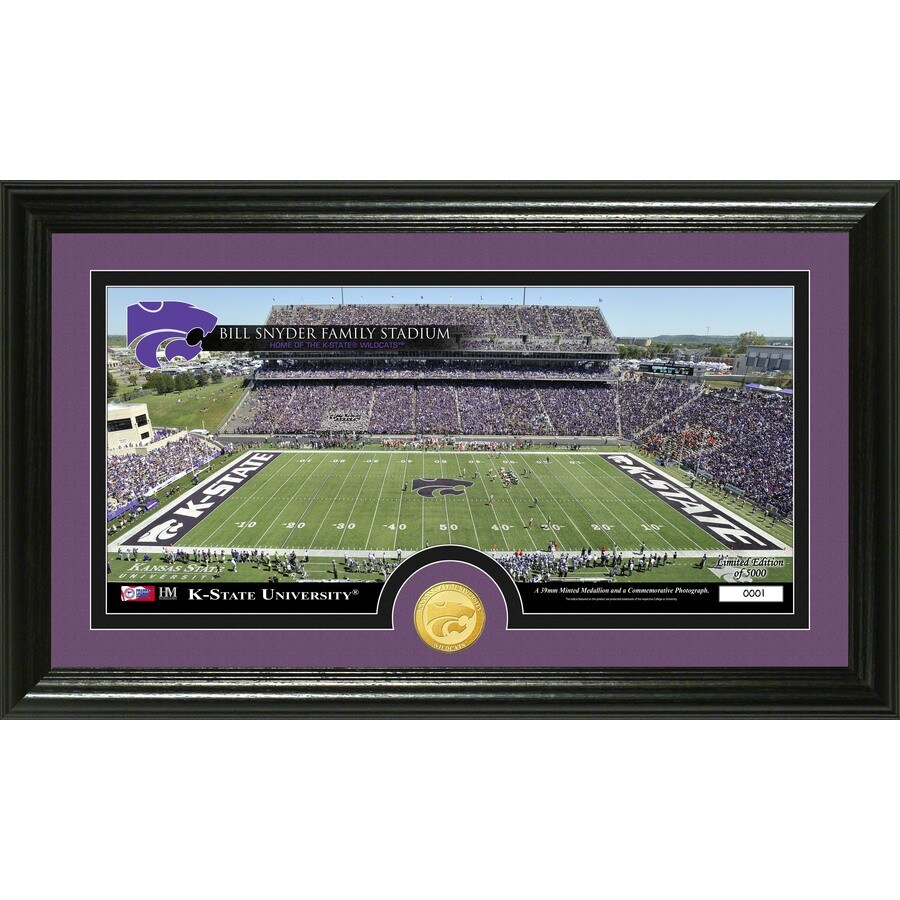 The Highland Mint 20-in W x 12-in H Kansas State University Stadium Bronze Coin Panoramic Photo Mint Limited Editions