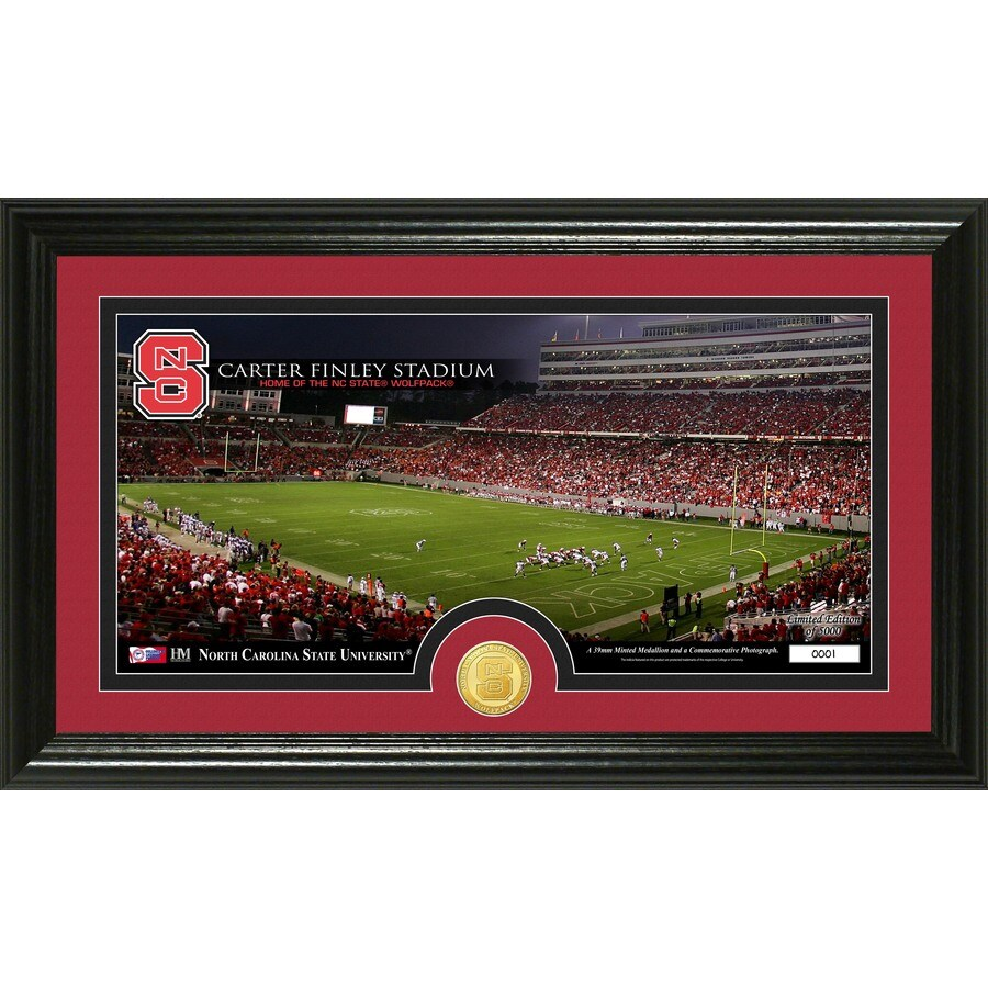 The Highland Mint 20-in W x 12-in H North Carolina State University Stadium Bronze Coin Panoramic Photo Mint Limited Editions