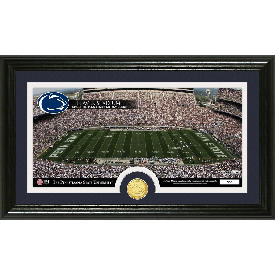The Highland Mint 20-in W x 12-in H Penn State Stadium Bronze Coin Panoramic Photo Mint Wall Art
