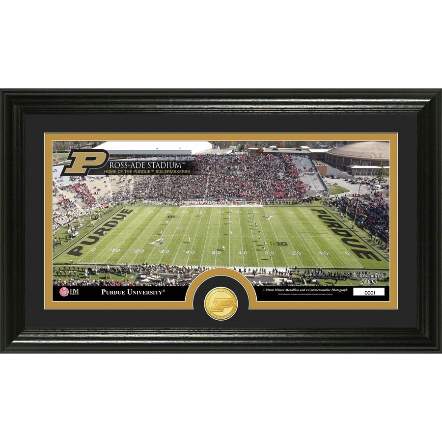 The Highland Mint 20-in W x 12-in H Purdue University Stadium Bronze Coin Panoramic Photo Mint Wall Art