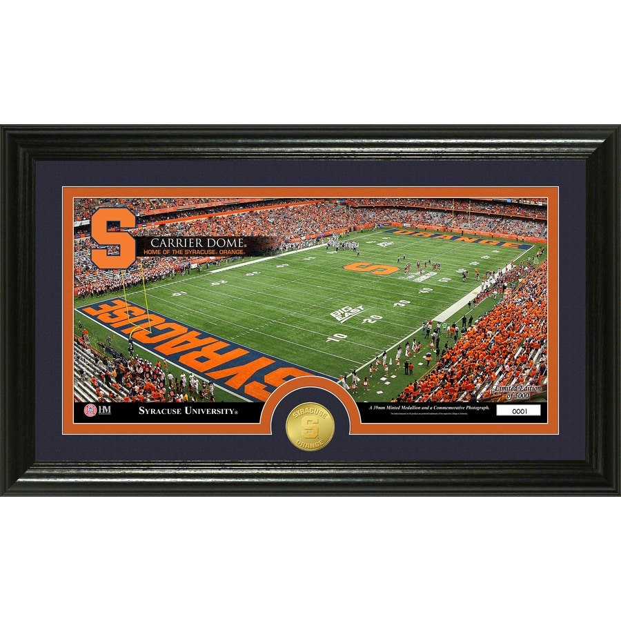 The Highland Mint 20-in W x 12-in H Syracuse University Stadium Bronze Coin Panoramic Photo Mint Wall Art