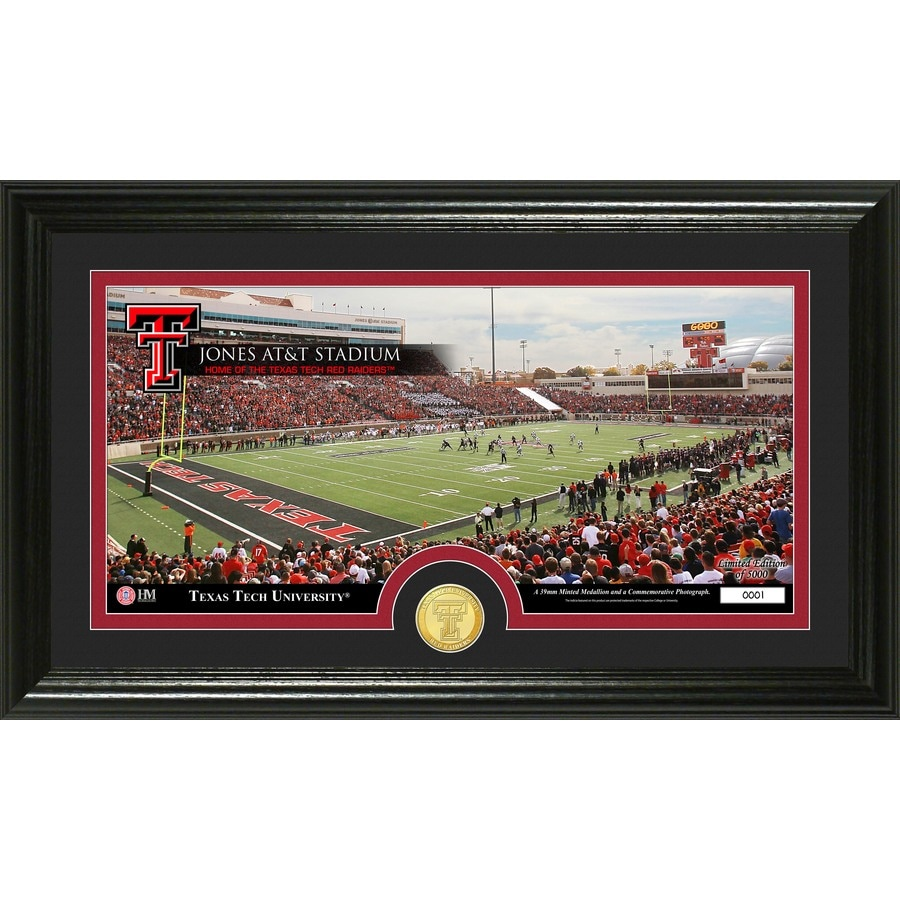 The Highland Mint 20-in W x 12-in H Texas Tech University Stadium Bronze Coin Panoramic Photo Mint Wall Art