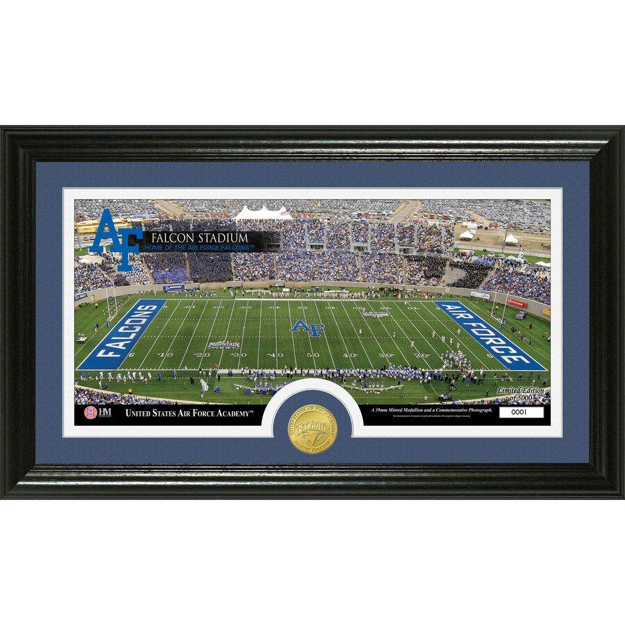 The Highland Mint 20-in W x 12-in H United States Airforce Academy Stadium Bronze Coin Panoramic Photo Mint Wall Art