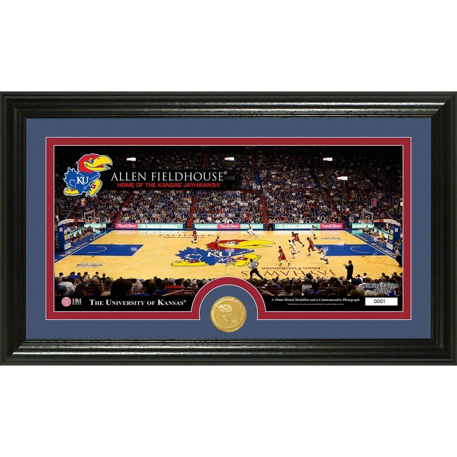 The Highland Mint 20-in W x 12-in H University of Kansas Court Bronze Coin Panoramic Photo Mint Wall Art