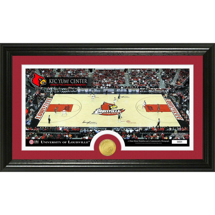 The Highland Mint 20-in W x 12-in H University of Louisville Court Bronze Coin Panoramic Photo Mint Wall Art