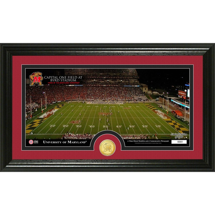 The Highland Mint 20-in W x 12-in H University of Maryland Stadium Bronze Coin Panoramic Photo Mint Wall Art
