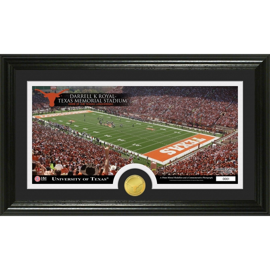 The Highland Mint 20-in W x 12-in H University of Texas Stadium Bronze Coin Panoramic Photo Mint Wall Art