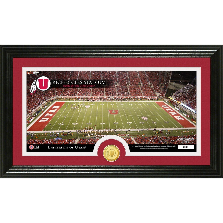 The Highland Mint 20-in W x 12-in H University Of Utah Stadium Bronze Coin Panoramic Photo Mint Limited Editions