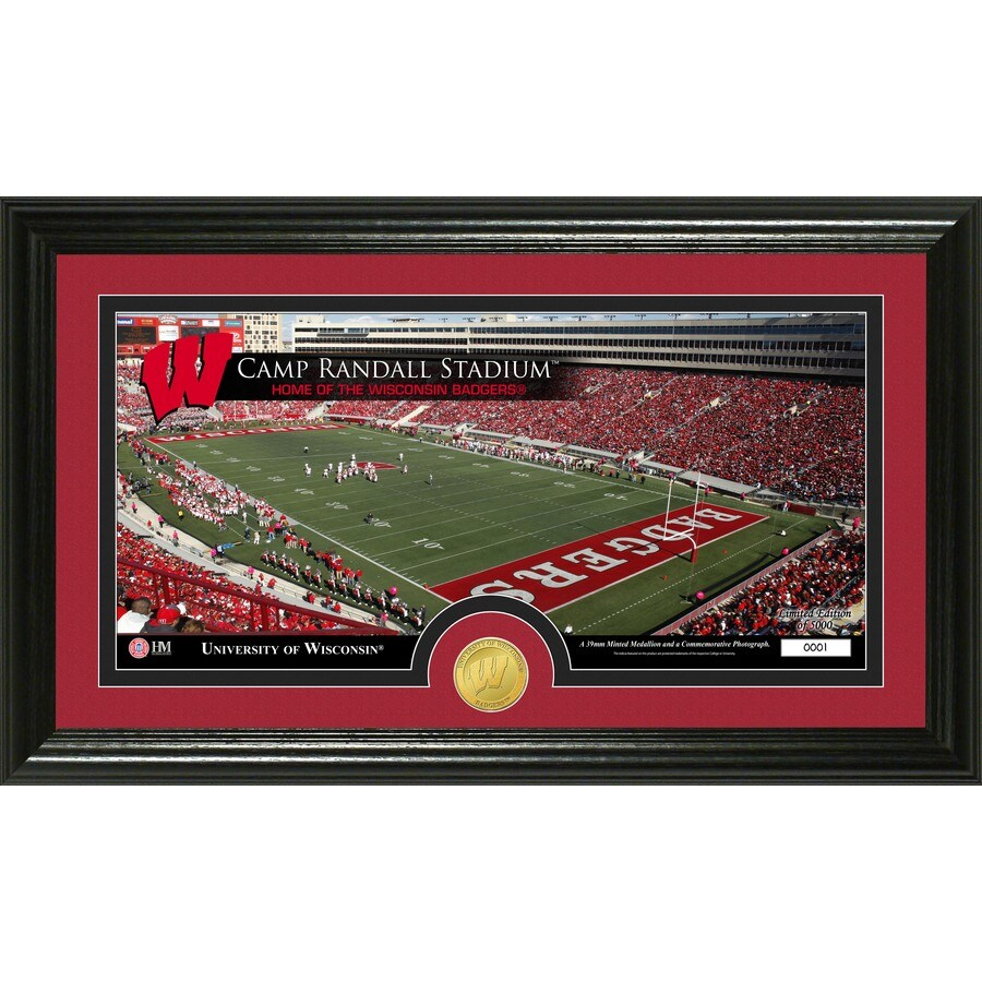 The Highland Mint 20-in W x 12-in H University of Wisconsin Stadium Bronze Coin Panoramic Photo Mint Wall Art