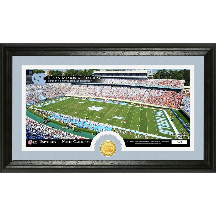 The Highland Mint 20-in W x 12-in H University of North Carolina Stadium Bronze Coin Panoramic Photo Mint Wall Art
