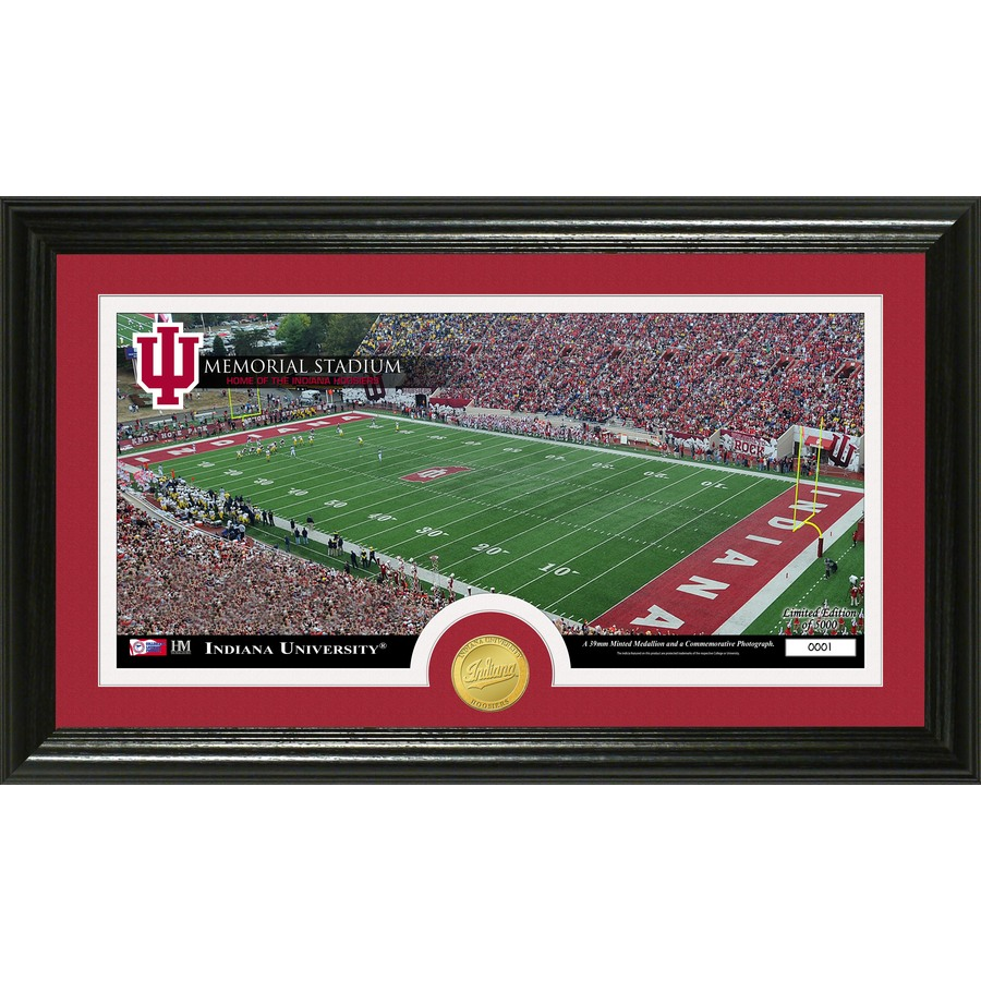 The Highland Mint 20-in W x 12-in H Indiana University Stadium Bronze Coin Panoramic Photo Mint Wall Art