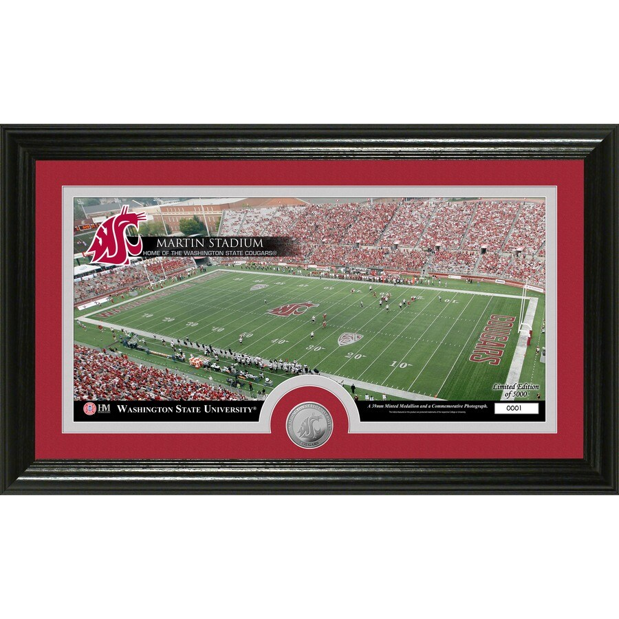 The Highland Mint 20-in W x 12-in H Washington State University Stadium Minted Coin Panoramic Photo Mint Wall Art