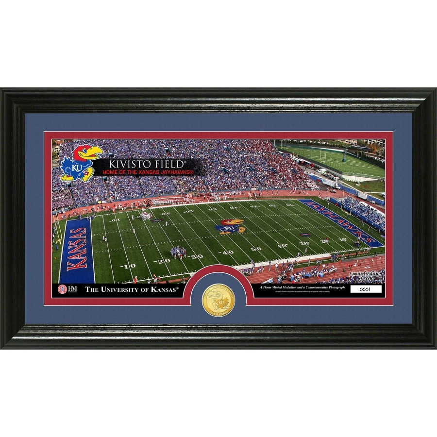 The Highland Mint 20-in W x 12-in H University of Kansas Stadium Bronze Coin Panoramic Photo Mint Wall Art
