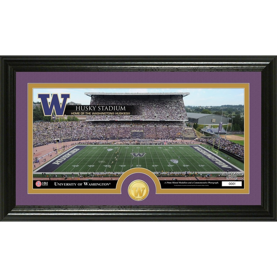 The Highland Mint 20-in W x 12-in H University of Washington Stadium Bronze Coin Panoramic Photo Mint Wall Art