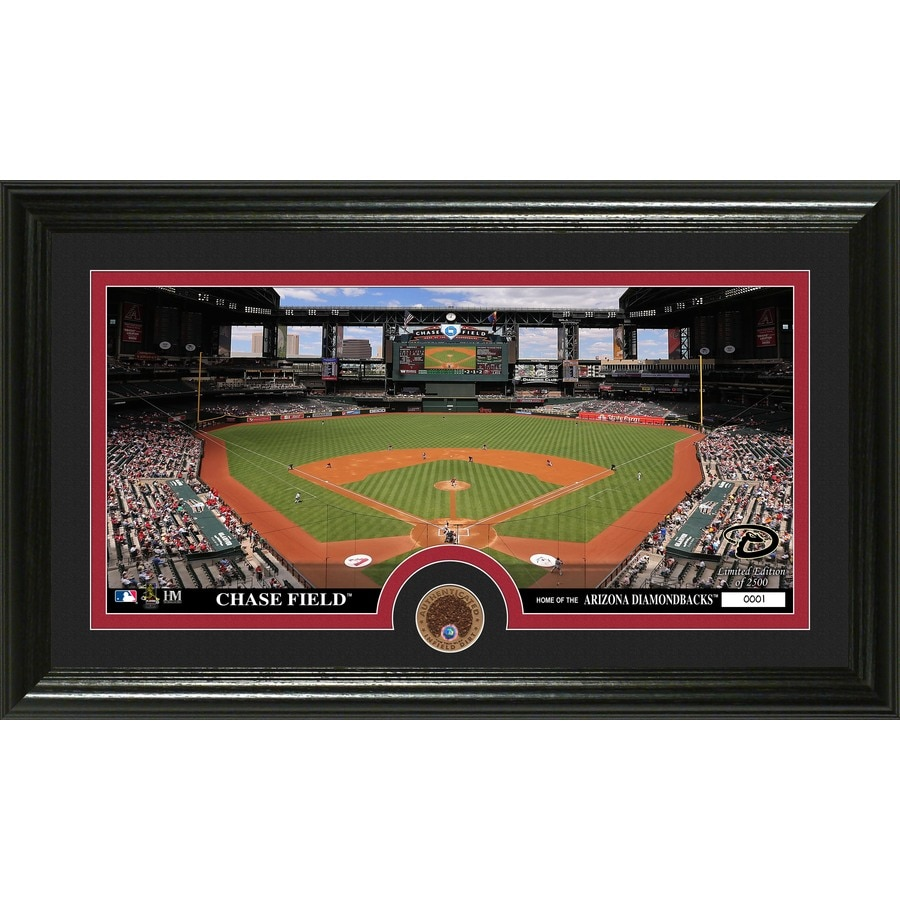 The Highland Mint 20-in W x 12-in H Arizona Diamondbacks Infield Dirt Coin Panoramic Photo Mint Wall Art