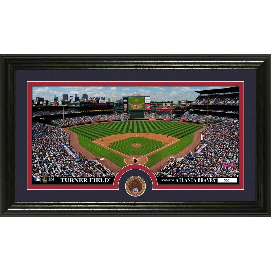 The Highland Mint 20-in W x 12-in H Atlanta Braves Infield Dirt Coin Panoramic Photo Mint Wall Art