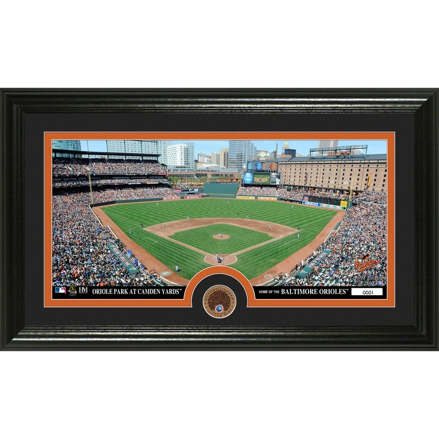 The Highland Mint 20-in W x 12-in H Baltimore Orioles Infield Dirt Coin Panoramic Photo Mint Wall Art
