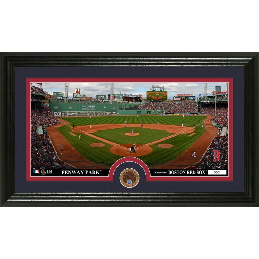 The Highland Mint 20-in W x 12-in H Boston Red Sox Infield Dirt Coin Panoramic Photo Mint Wall Art