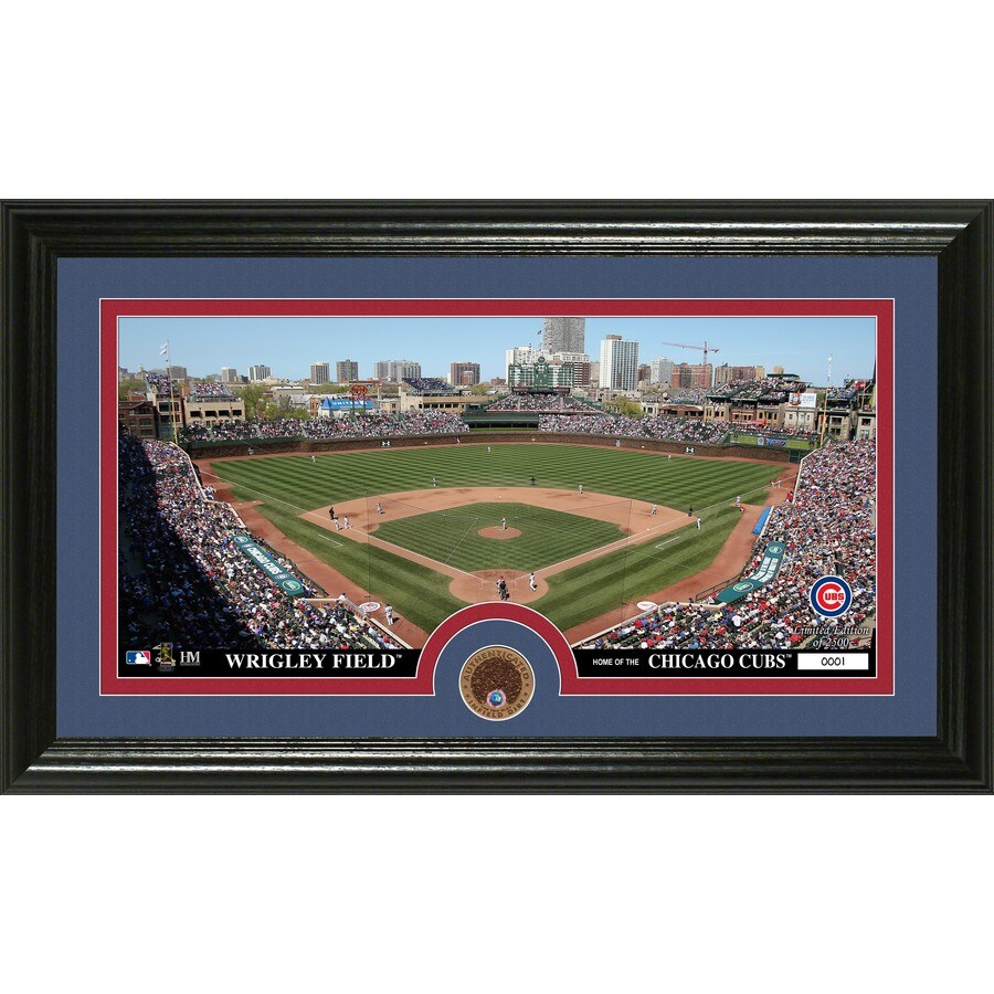 The Highland Mint 20-in W x 12-in H Chicago Cubs Infield Dirt Coin Panoramic Photo Mint Wall Art