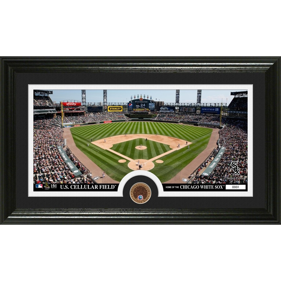The Highland Mint 20-in W x 12-in H Chicago White Sox Infield Dirt Coin Panoramic Photo Mint Limited Editions